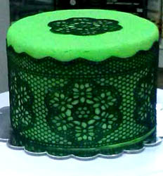 edible Lace cakes