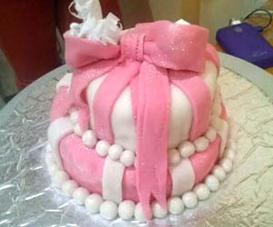 Sugarcrafted Topsy Turvy Cake